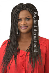 "Fully hand braided lace front wig - Nina #2 in 18"" Medium twists"