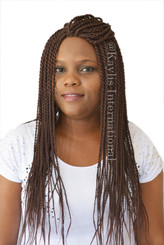 "Fully hand braided lace front wig - Nina #33 in 22"" Medium twists"