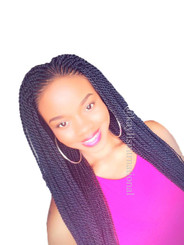 """Fully hand braided lace front wig - Faith color 1 in 22"""""""