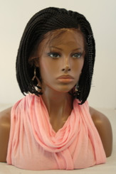 """Fully hand braided Cornrow lace front wig - StacyA #2 in 6"""""""