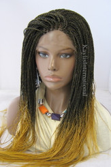 Fully hand braided lace front wig - Hope color Ombre in 20""