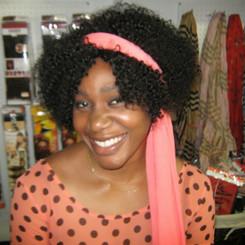 "100% Human Short Afro Kinky Wig 8"" - Dana"
