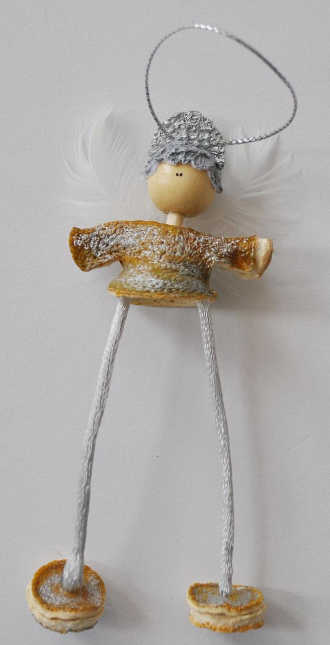 Novelty ornaments - Novelty Ornaments Hanging Orange Peel Angel Silver