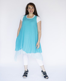 Wabisabi Dress Aqua Blue
