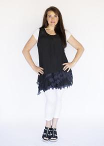Asymmetrical 2PC Dress Black