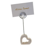 Hearts with Pearls Place Card Holder