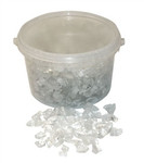 10-20mm 3.5kg Clear Glass Stones in Bucket