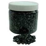680g Black Pebbles with Red Glitter