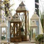Brown Lantern Set of 2 with Drawers (109cm)
