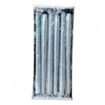 250x23mm Silver Tapered Candle (Pack 12)