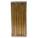 250x23mm Gold Tapered Candle (Pack 12)
