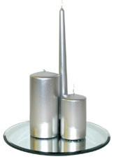 200x70mm Silver Pillar Candle