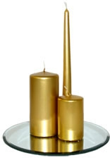 200x70mm Gold Pillar Candle