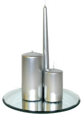 150x70mm Silver Pillar Candle