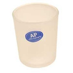 White Frosted Cylinder Votive