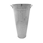 45cm Galvanised Vase