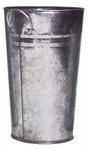 Galvanised Vase (H25 Dia16cm)
