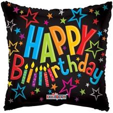 Birthday - Happy Birthday on Black
