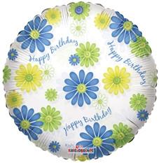 Birthday - Happy Birthday Flowers Clear View