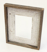 Shabby Chic White Natural Reclaimed Frame