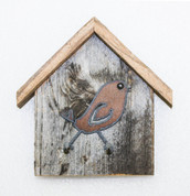 Rustic Birdhouse Key Holder, Song-Bird