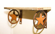 RECLAIMED RUSTIC METAL STAR SHELF