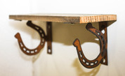 NATURAL RECLAIMED METAL HORSESHOE SHELF