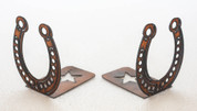 Rustic Metal Horseshoe Bookends
