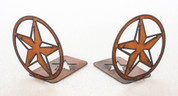 RUSTIC METAL STAR BOOKENDS