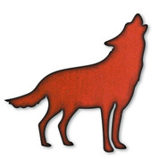 Rustic Metal Howling Wolf Magnet