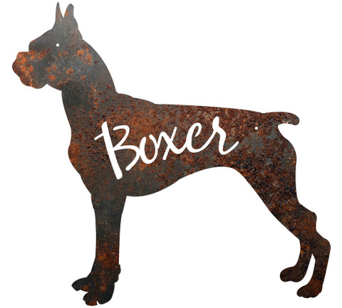 BOXER METAL SIGN