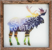 Rustic Glass Framed Moose