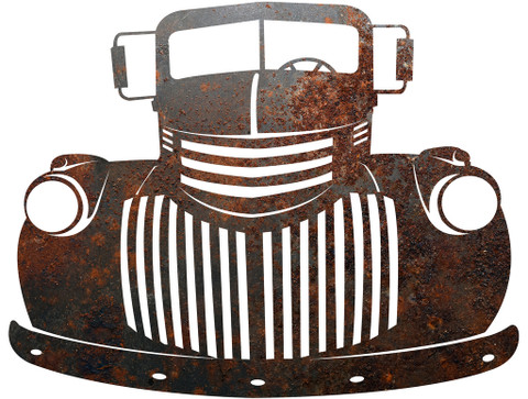 OLD TRUCK METAL SIGN