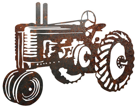 RUSTIC METAL OLD TRACTOR SIGN