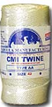 White Twisted Nylon Twine; Size 60; approx. 295 ft/lb