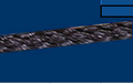 "Hollow Braid Polypropylene;#8; 1/4"" dia.; 1300# test; 640' length"