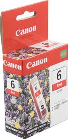 Canon 8891A003 (BCI-6R) Red Ink Cartridge Original Genuine OEM