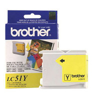 Brother LC51Y Yellow Ink Cartridge Original Genuine OEM