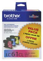Brother LC613PKS 3 Color Inkjet Cartridge Multipack Original Genuine OEM