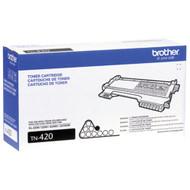 Brother TN-420 Black Laser Toner Cartridge 1,200 PG Yield Original Genuine OEM