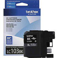 Brother LC103BK High Yield Black Ink Cartridge Original Genuine OEM