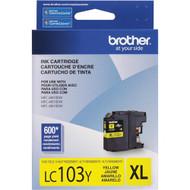 Brother LC103Y High Yield Yellow Ink Cartridge Original Genuine OEM