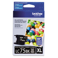 Brother LC75BK Black Ink Cartridge Original Genuine OEM