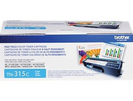 Brother TN-315C Cyan Laser Toner Cartridge - 3,500 Page Yield Original Genuine OEM