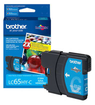 Brother LC65HYC High Yield Cyan Ink Cartridge Original Genuine OEM