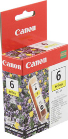 Canon 4708A003 (BCI-6Y) Yellow Ink Cartridge Original Genuine OEM
