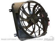 """1967-1969 Ford Mustang high performance 2070 CFM 20"""" Electric Fan and Shroud Kit.  Helps prevent overheating in stop-and-go traffic, improve engine performance, and gas mileage."""