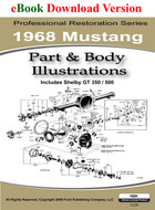 1968 Ford Mustang Part & Body Illustrations Manual
