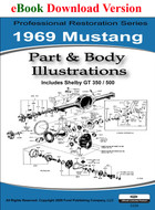 1969 Ford Mustang Part & Body Illustrations Manual