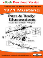 1971 Ford Mustang Part & Body Illustrations Manual